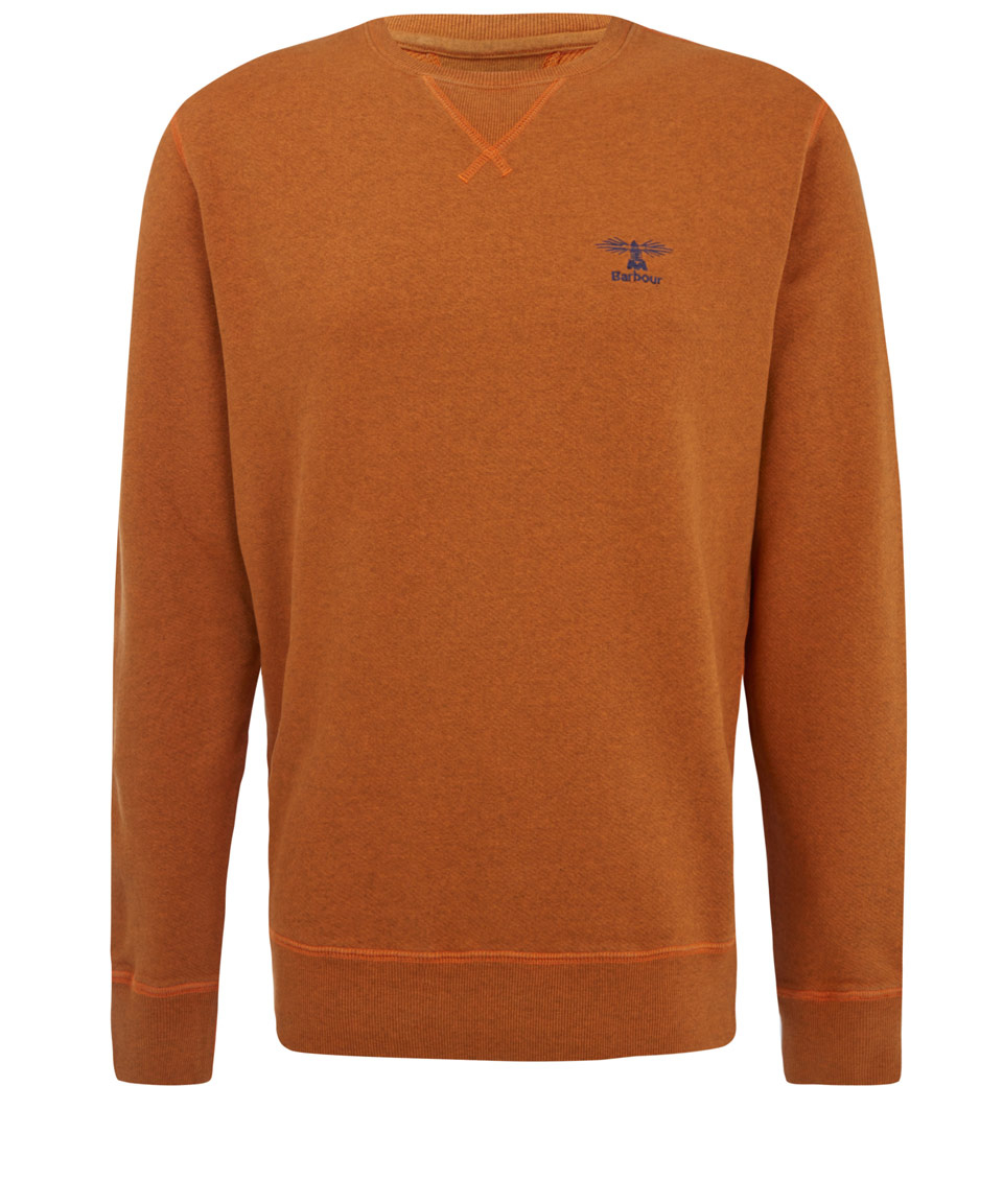 fcfb24183d4a Barbour Burnt Orange Crew Neck Cotton Sweatshirt in Orange for Men ...