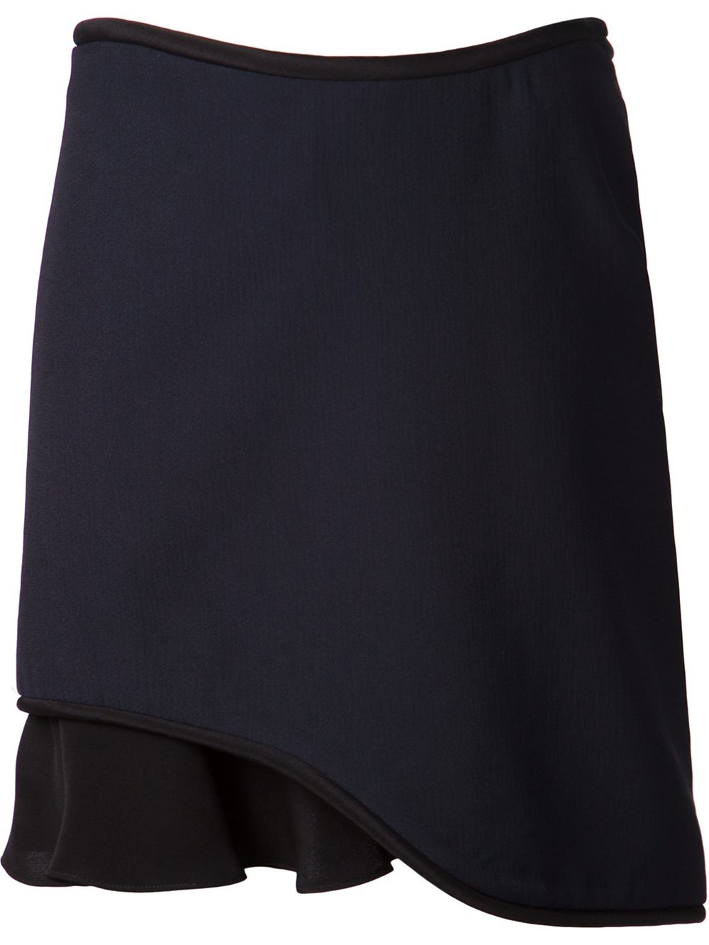3 1 phillip lim layered two tone skirt in blue lyst