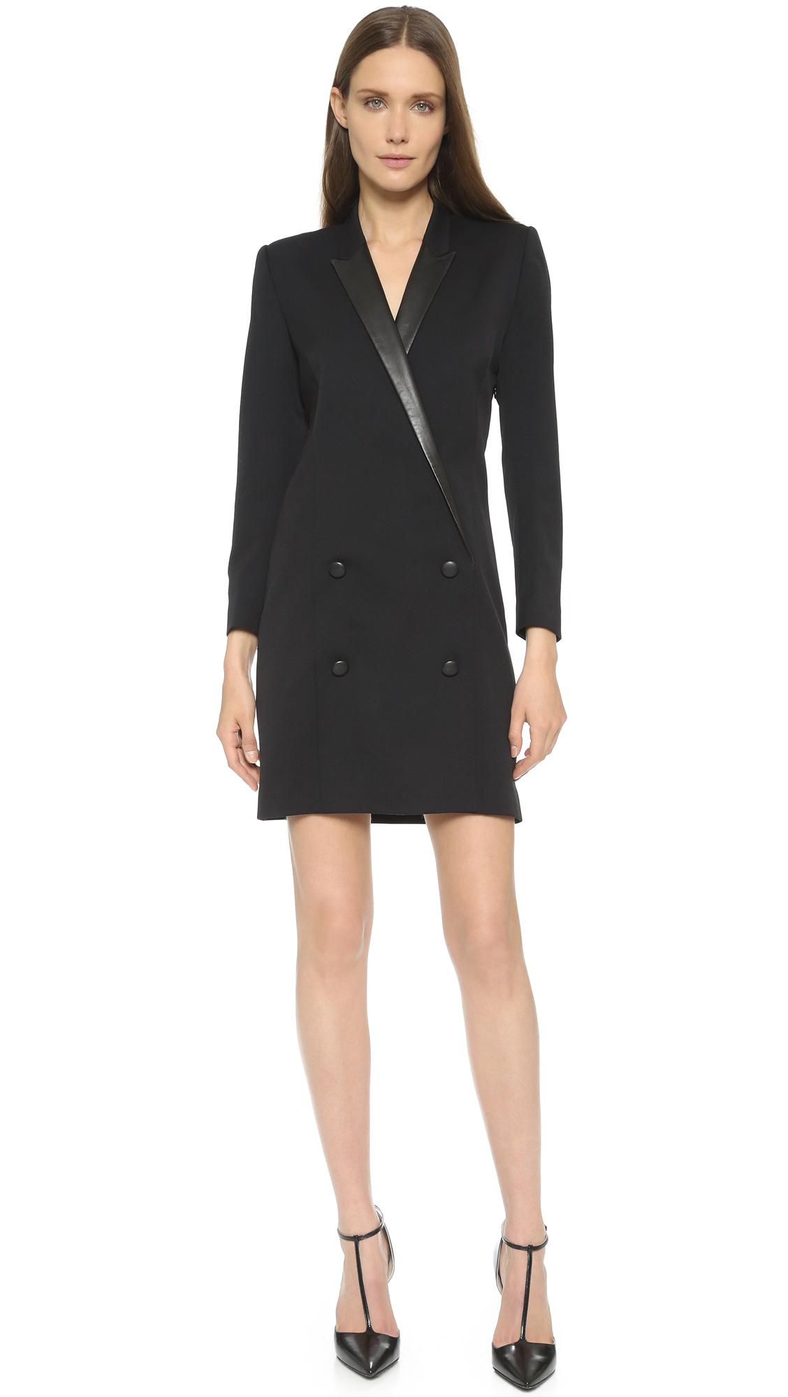 The kooples Coat Shaped Dress - Black in Black | Lyst