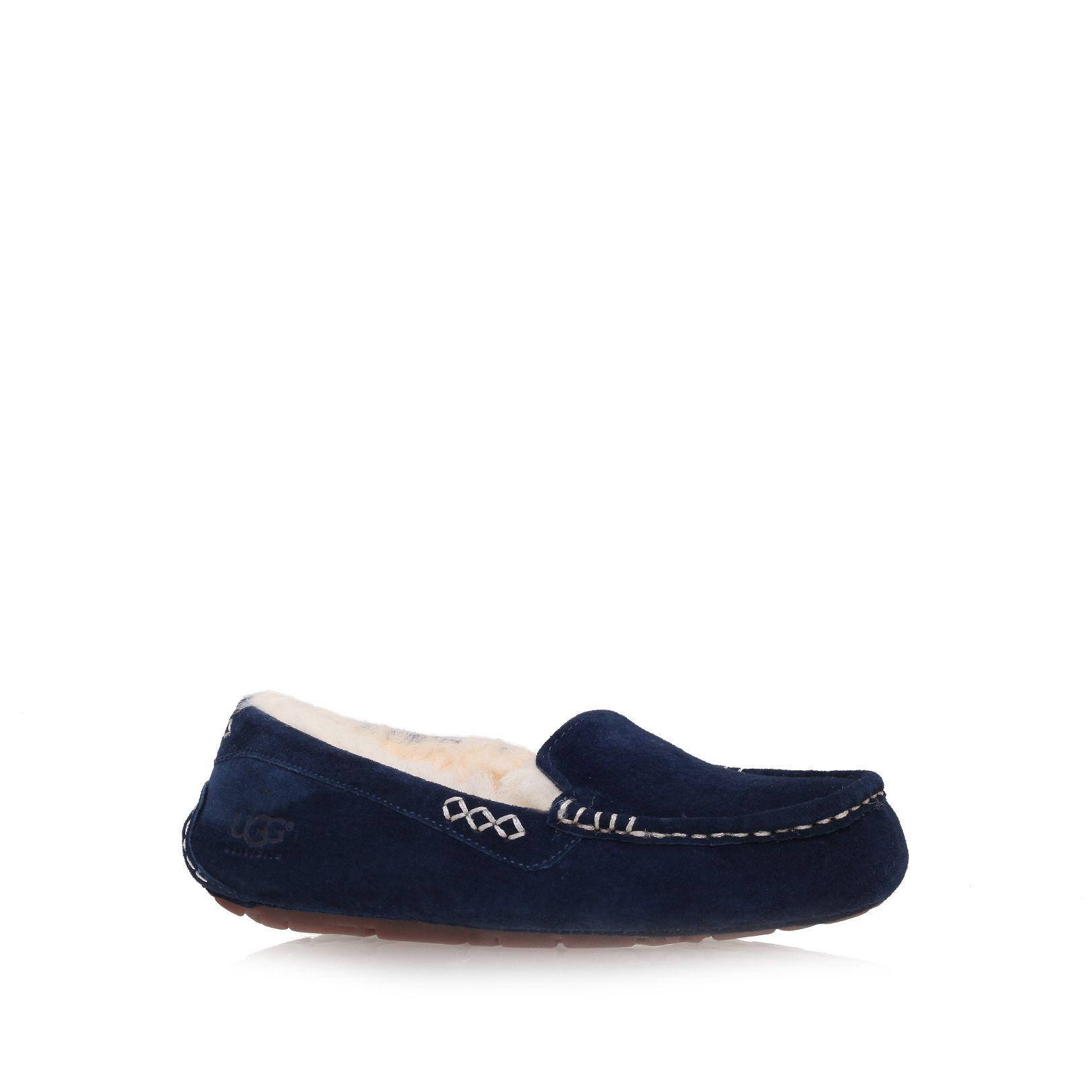 navy blue ugg slippers