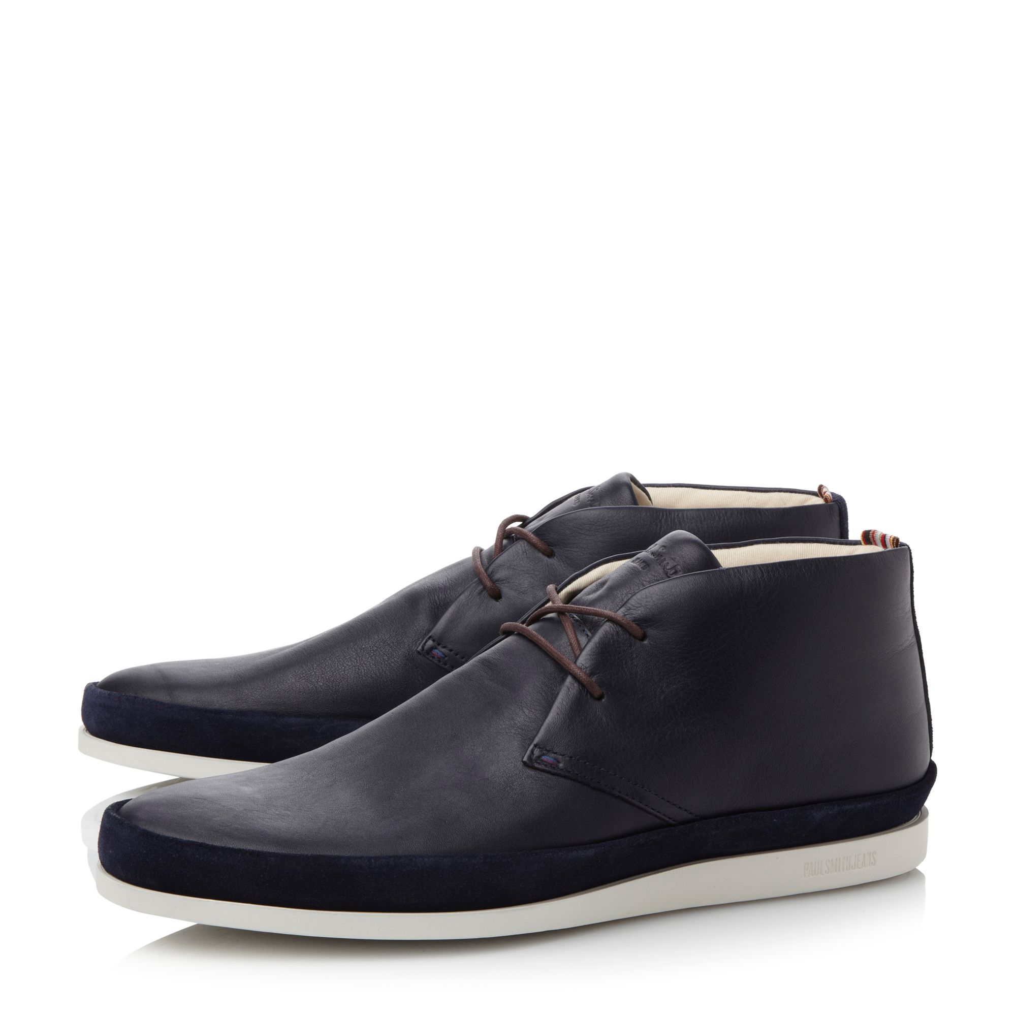 Paul smith Loomis White Sole Chukka Boots in Blue for Men   Lyst