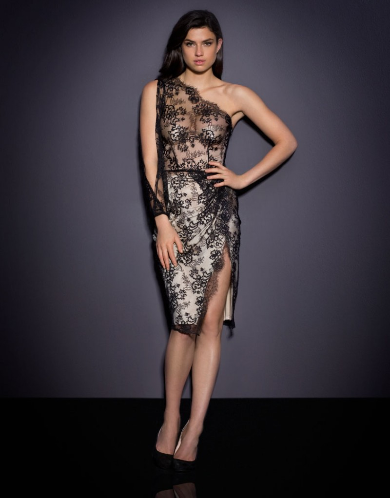 Lyst Agent Provocateur Lillian Sheer Lace Dress In Black