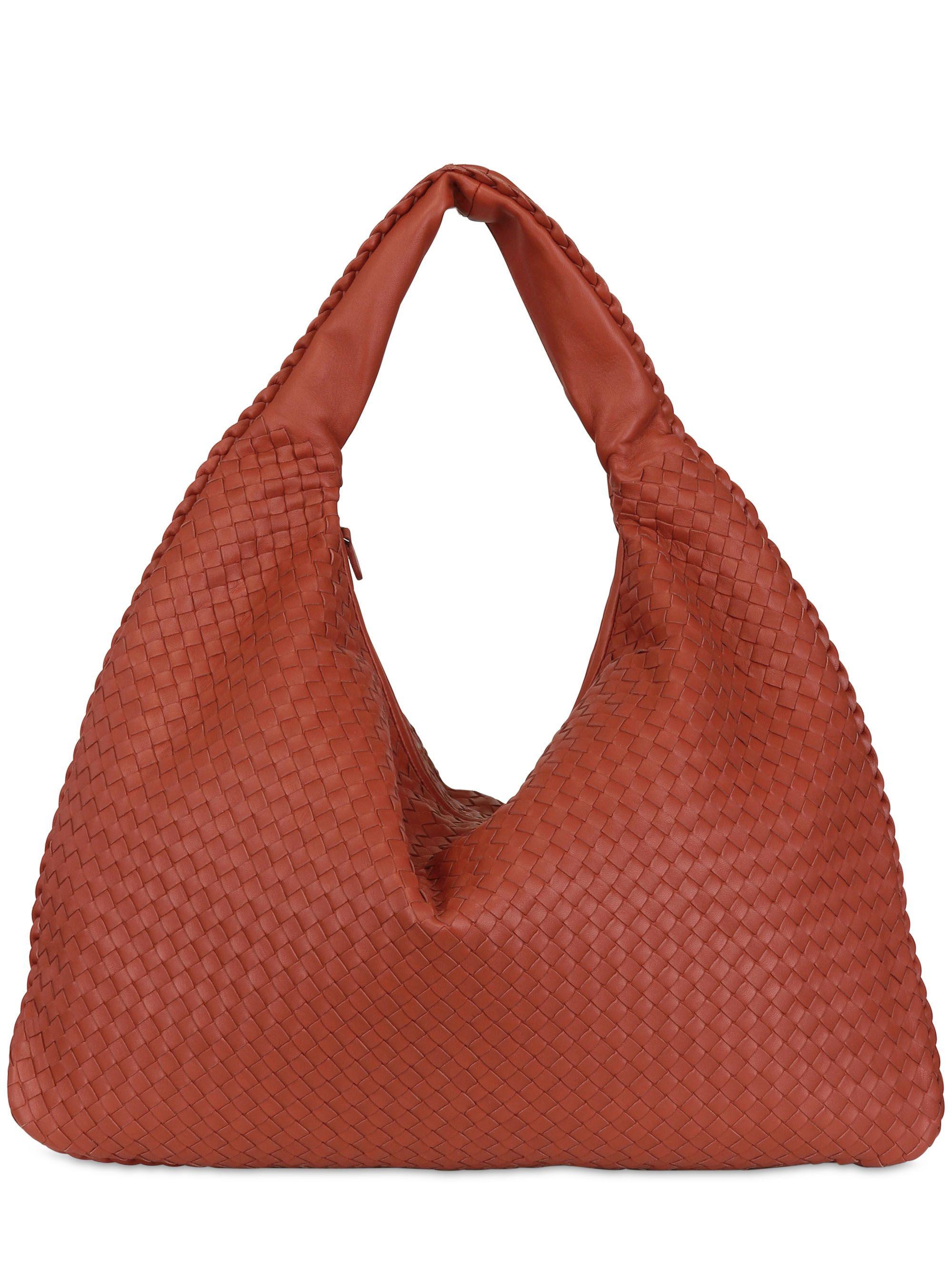 94384ae9da Lyst - Bottega Veneta Maxi Veneta Intreccio Nappa Leather Bag in Brown