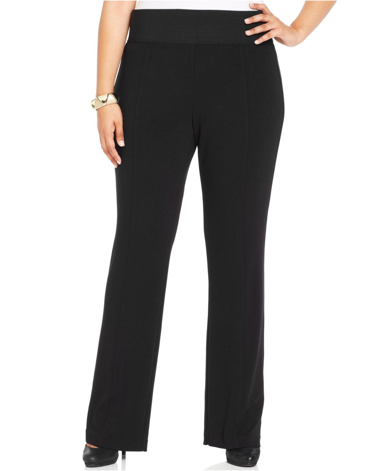 17b28443f96 Lyst - Alfani Plus Size Bootcut-leg Pull-on Pants in Black