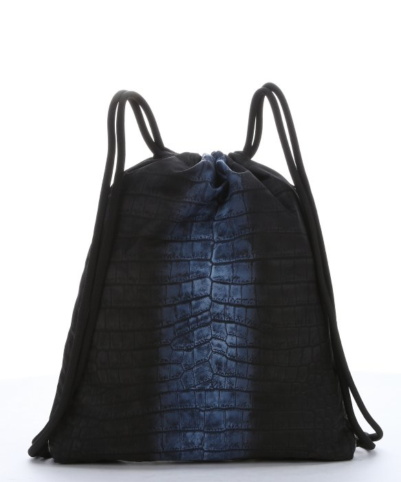 c307da401a34 Fendi Cobalt And Black Croc Print Nylon Drawstring Backpack in Blue ...