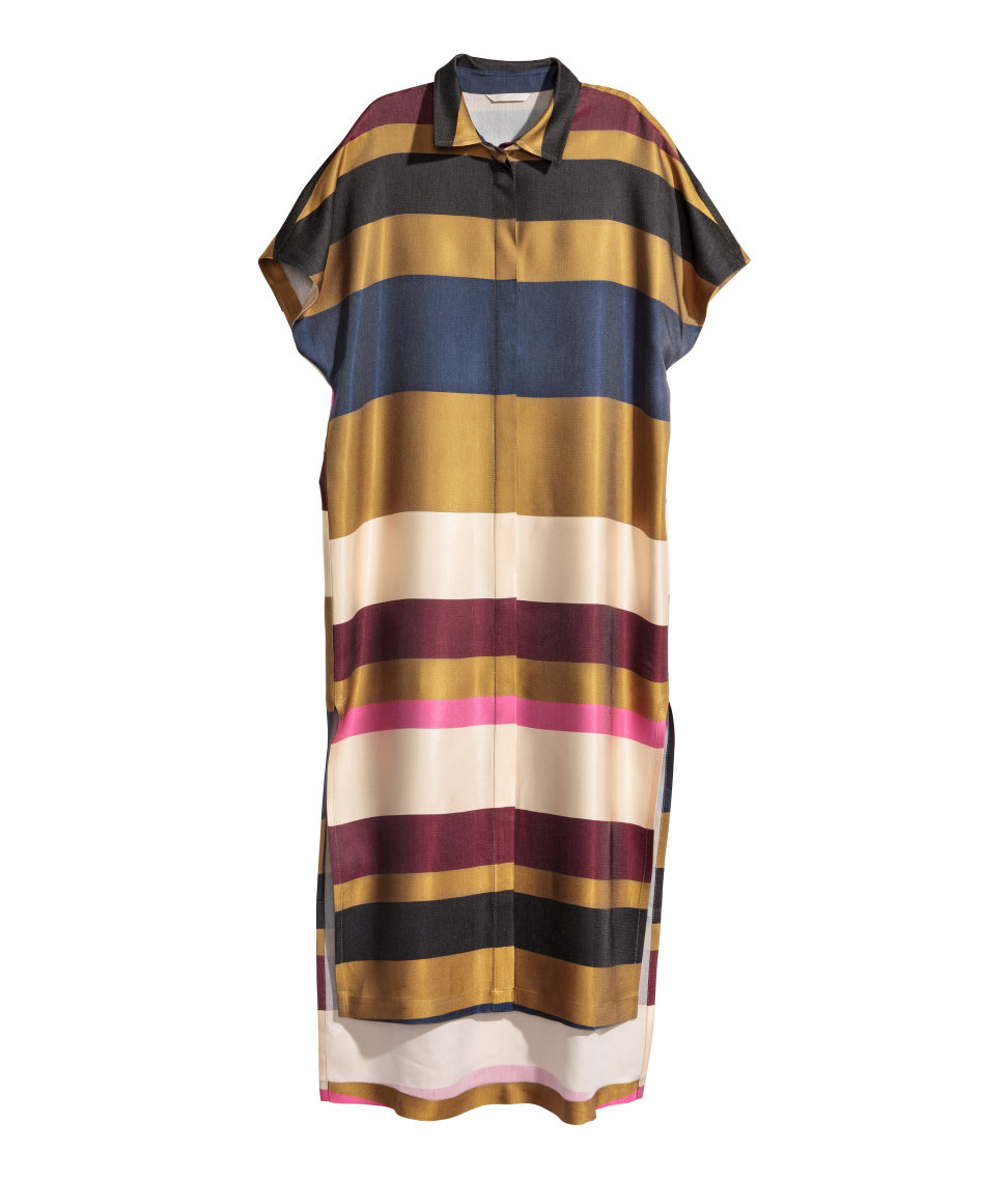 1dc22993b1 H&M Striped Shirt Dress - Lyst