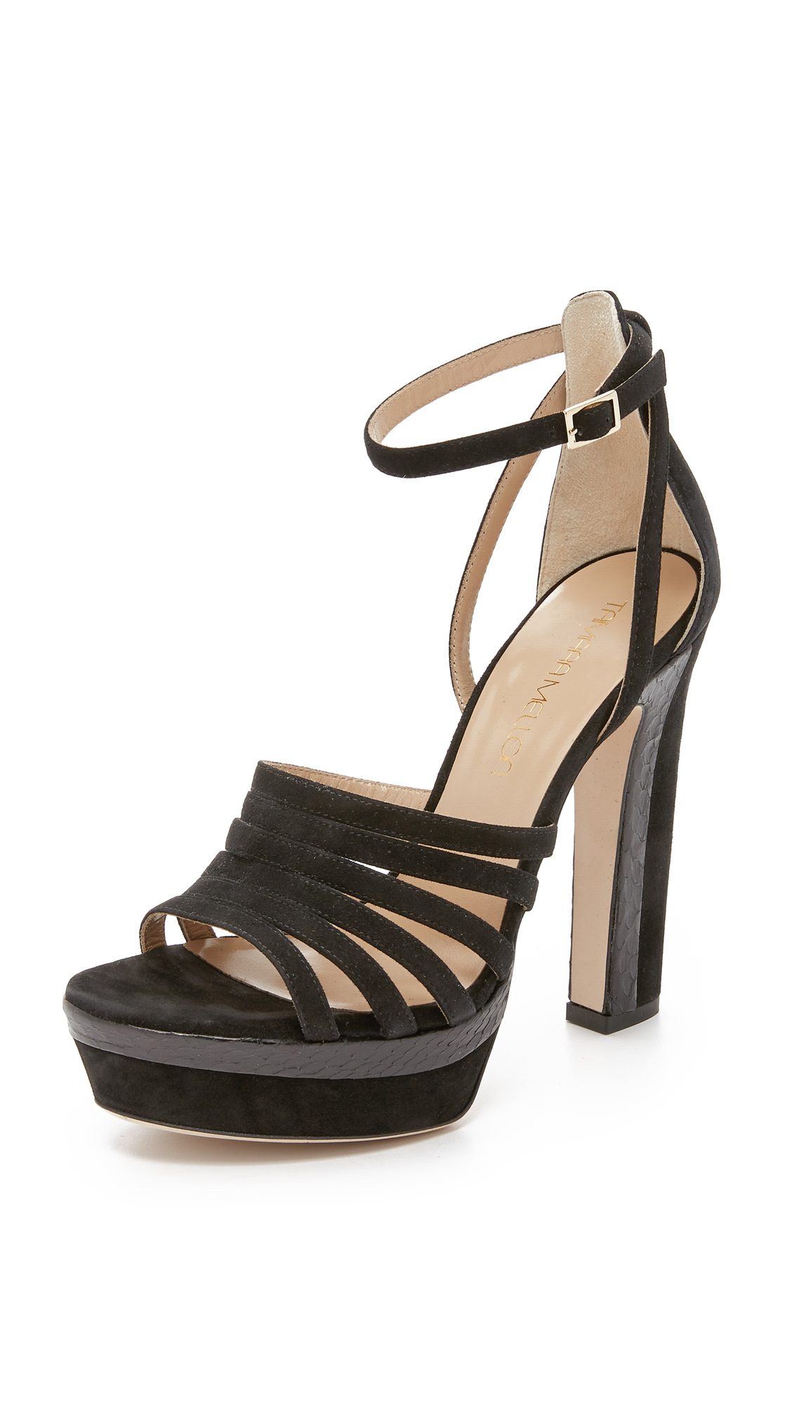 High quality and low prices Tamara Mellon Women Sandals Sandals Tamara Mellon womens Black TAMARA MELLON Womens Sandals