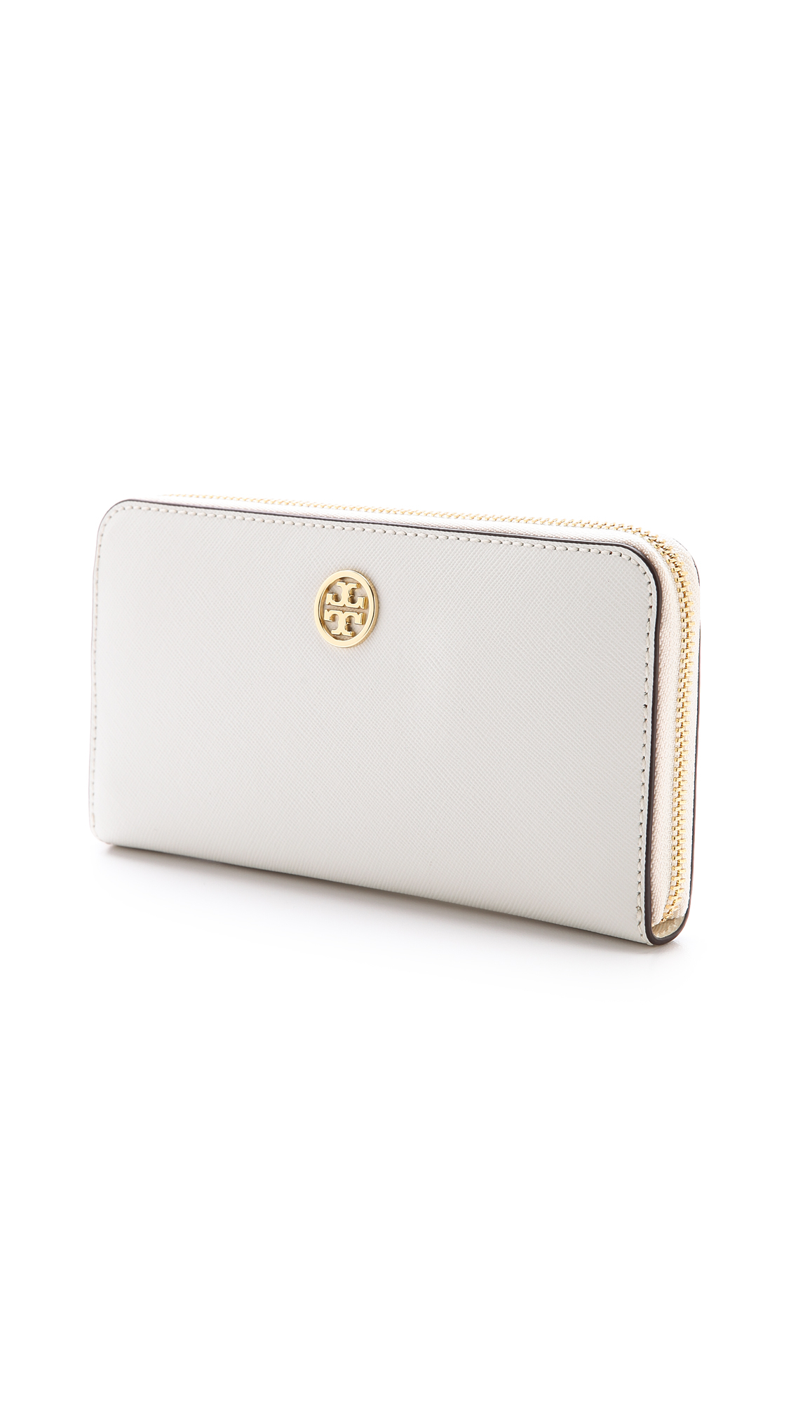 Lyst Tory Burch Robinson Zip Continental Wallet In White