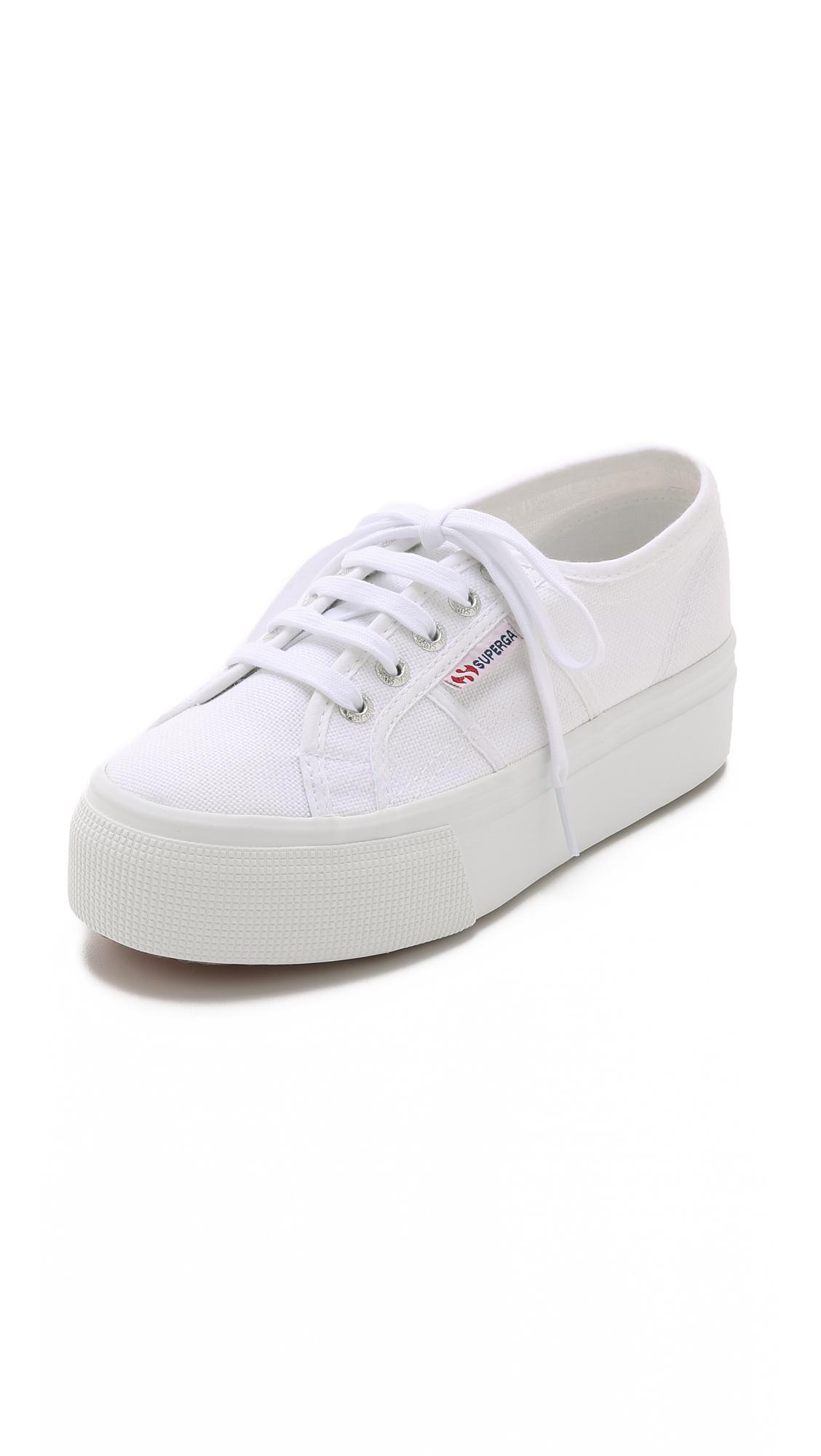 Superga: Superga Platform Sneakers In White