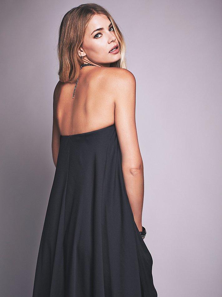 09bd40bd8f Lyst - Free People Tube Maxi Dress in Black