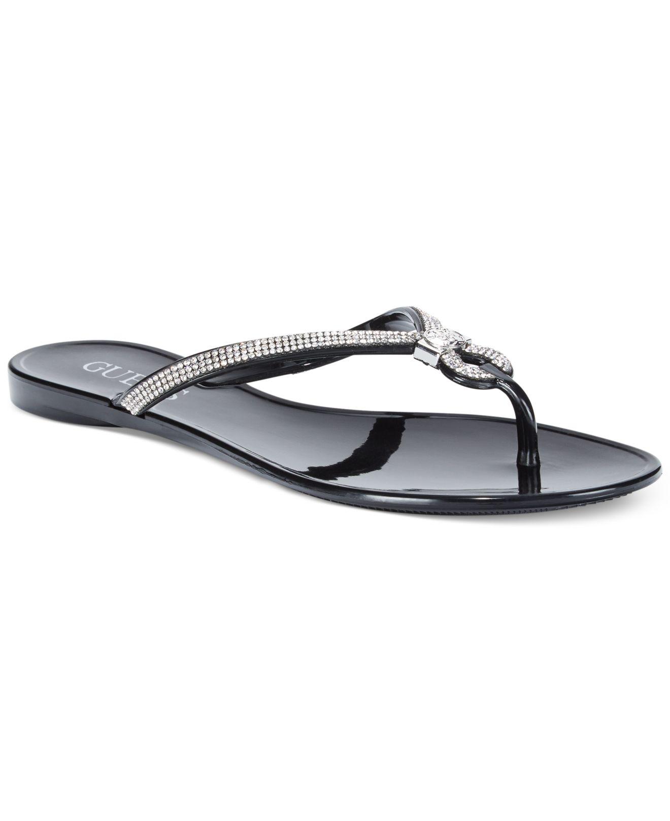 d3d1b5b41 Lyst - Guess Women s Jadelle Flip Flops in Black