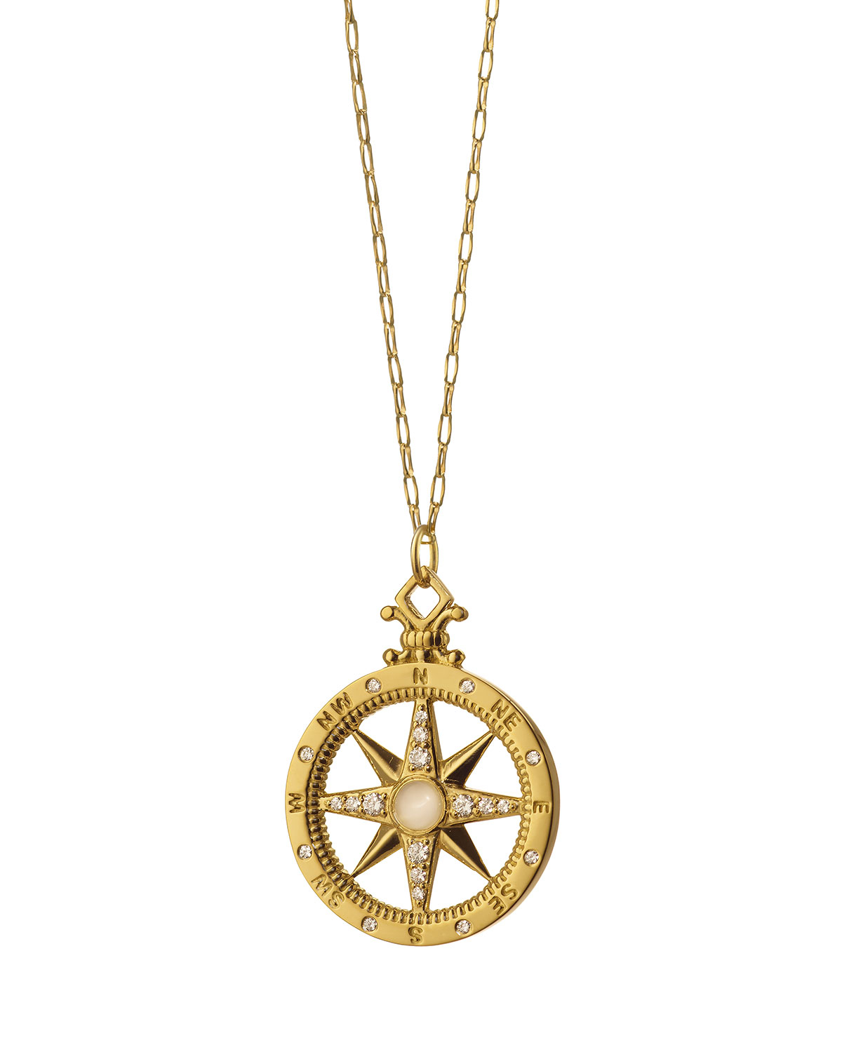 Lyst - Monica Rich Kosann 18k Gold Diamond Compass Charm ...
