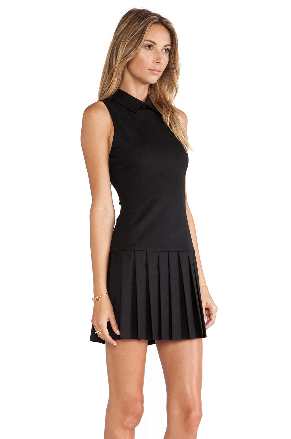 Black dropped waist dresses