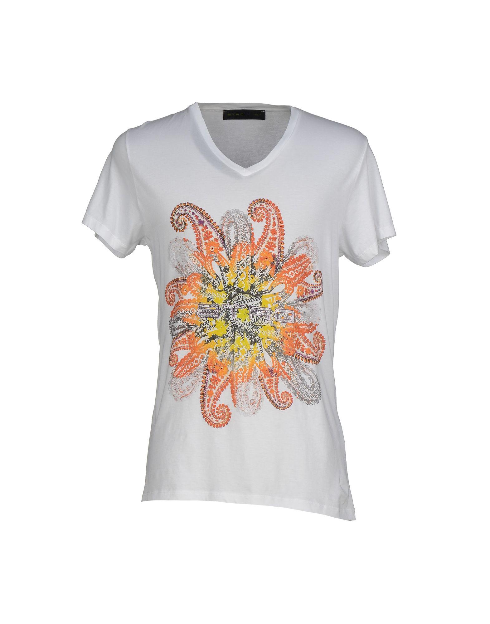 Etro t shirt in white for men lyst for Etro men s shirts
