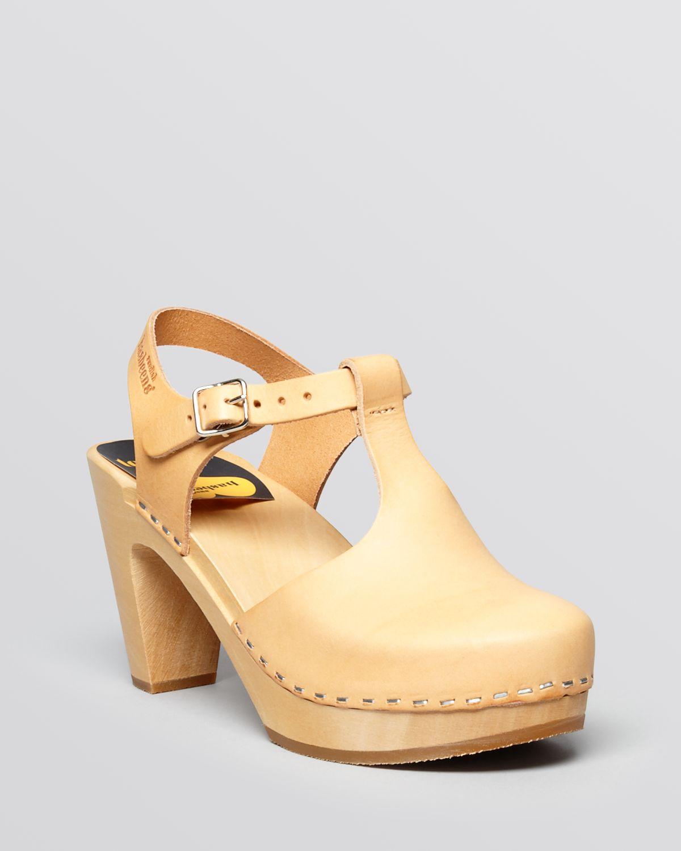 lyst   swedish hasbeens platform t strap clog sandals sky