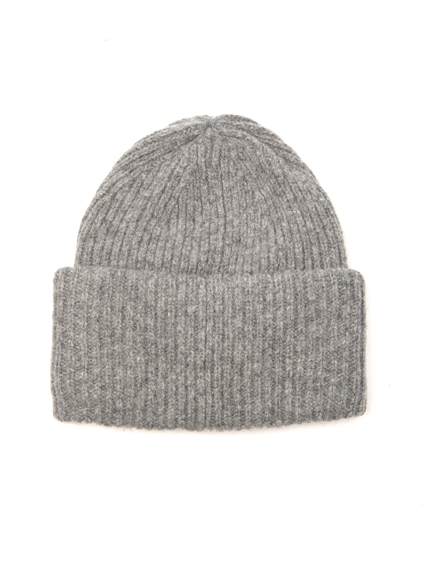 05fd509b130 Lyst - Acne Studios Pansy Ribbed-Knit Wool Beanie in Gray
