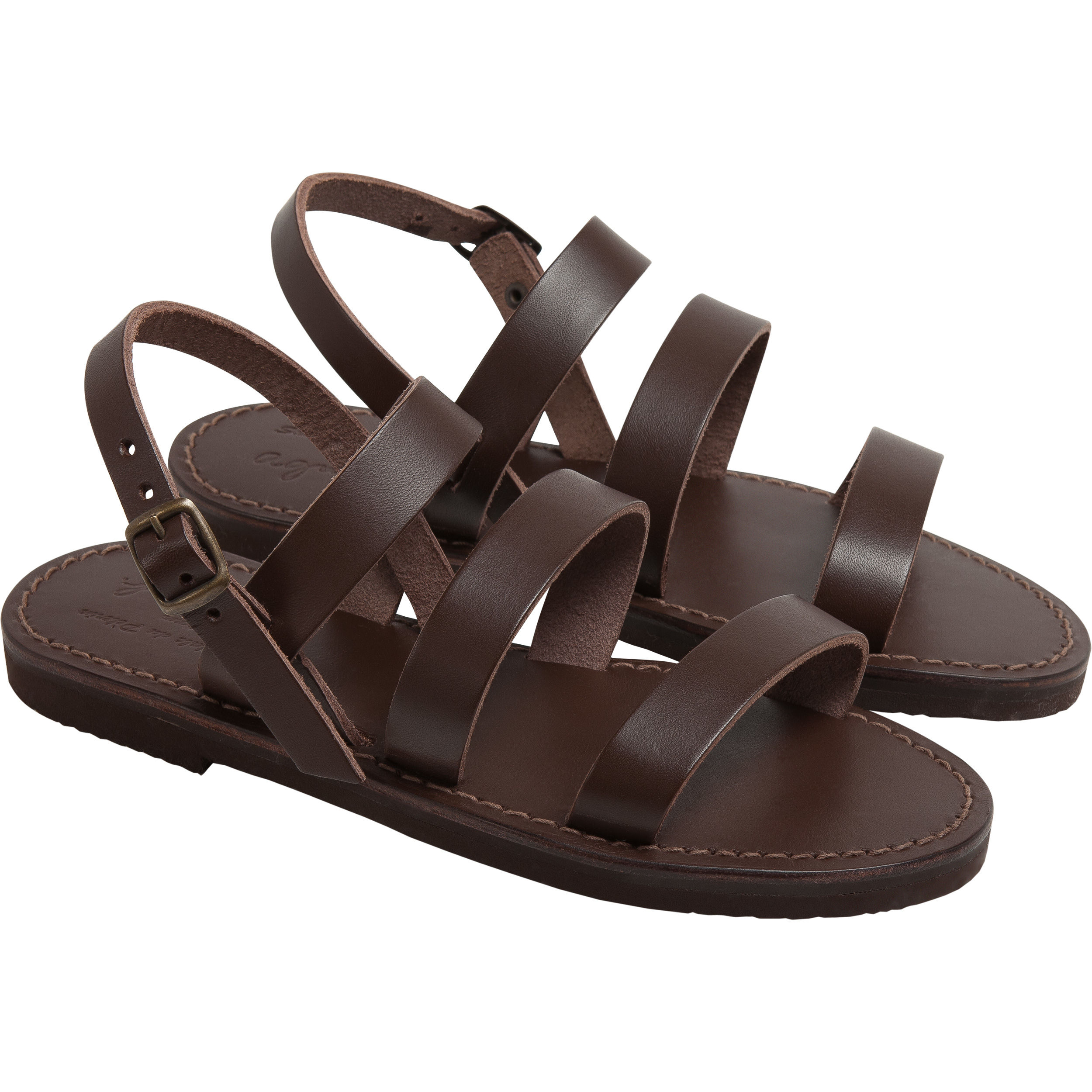 Agnès b. Brown Gladiator Sandals in Brown