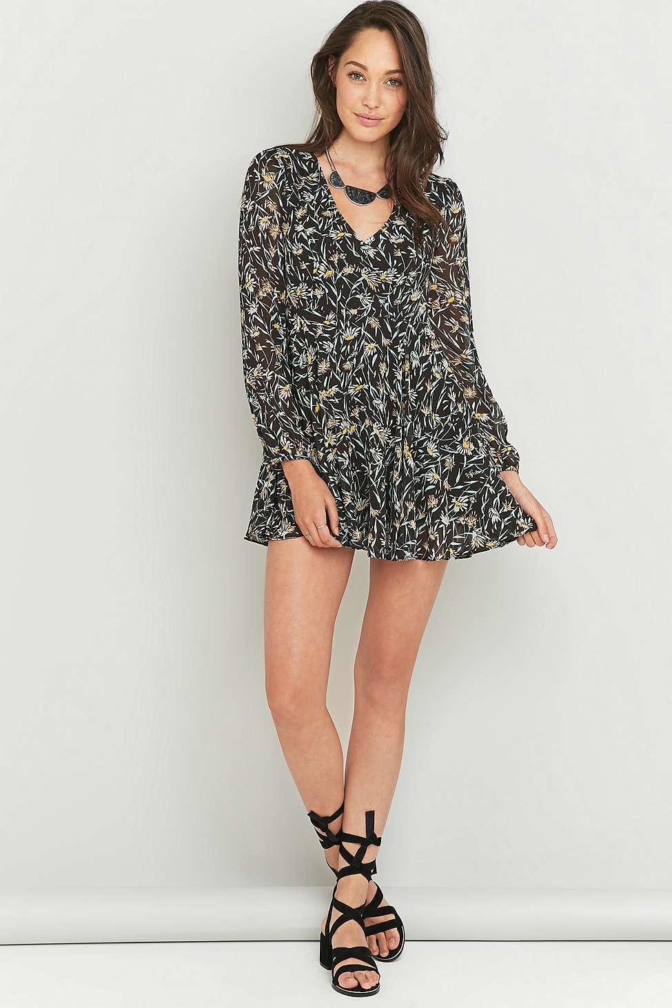 0174607555e1 ... where can i buy kimchi blue poppy grey floral dress in gray lyst 32fb7  f847f