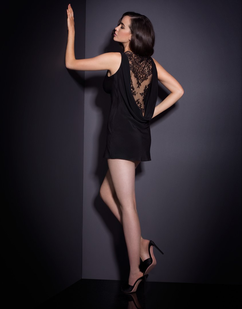 Lyst Agent Provocateur Vallerie Dress Black In Black