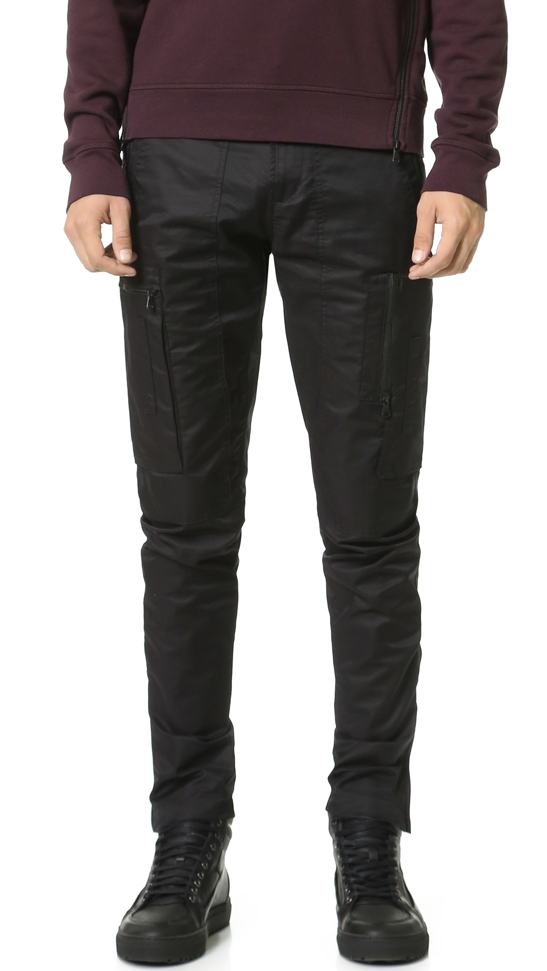 J brand Zip Cargo Pants in Black for Men | Lyst