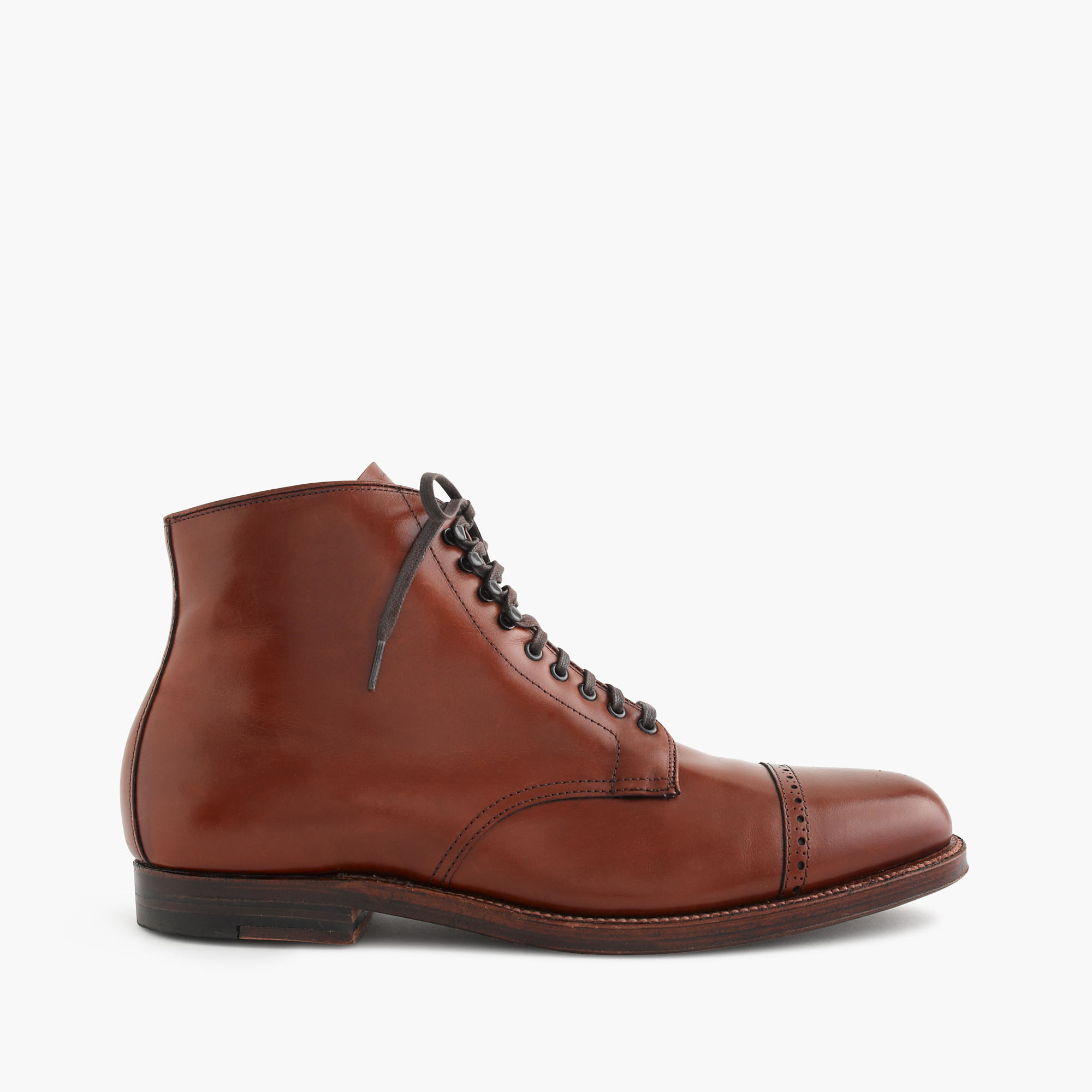 Alden straight tip boots in brown for men lyst for The alden