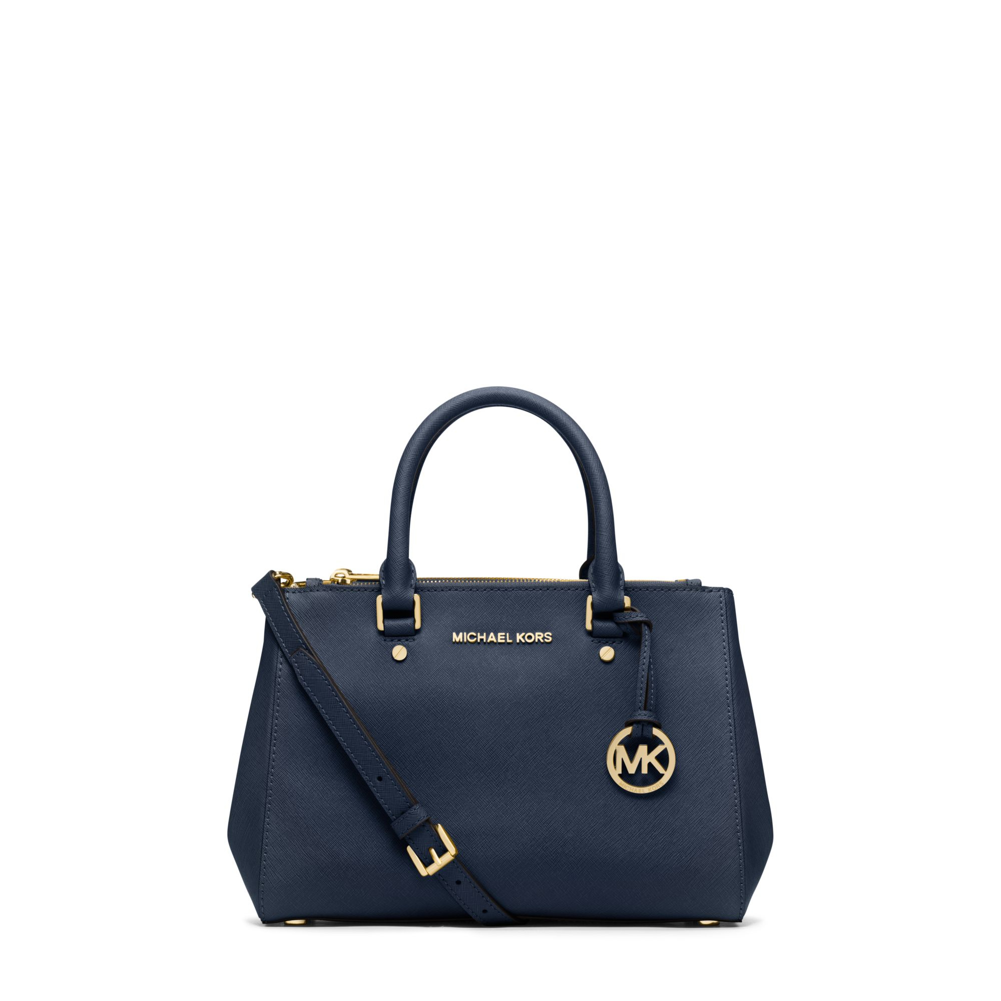 Michael kors Sutton Small Saffiano Leather Satchel in Blue | Lyst