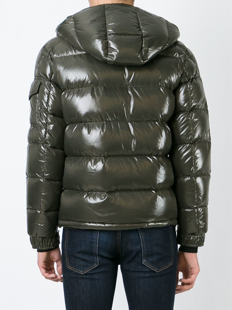 moncler 39 maya 39 padded jacket in green for men lyst. Black Bedroom Furniture Sets. Home Design Ideas
