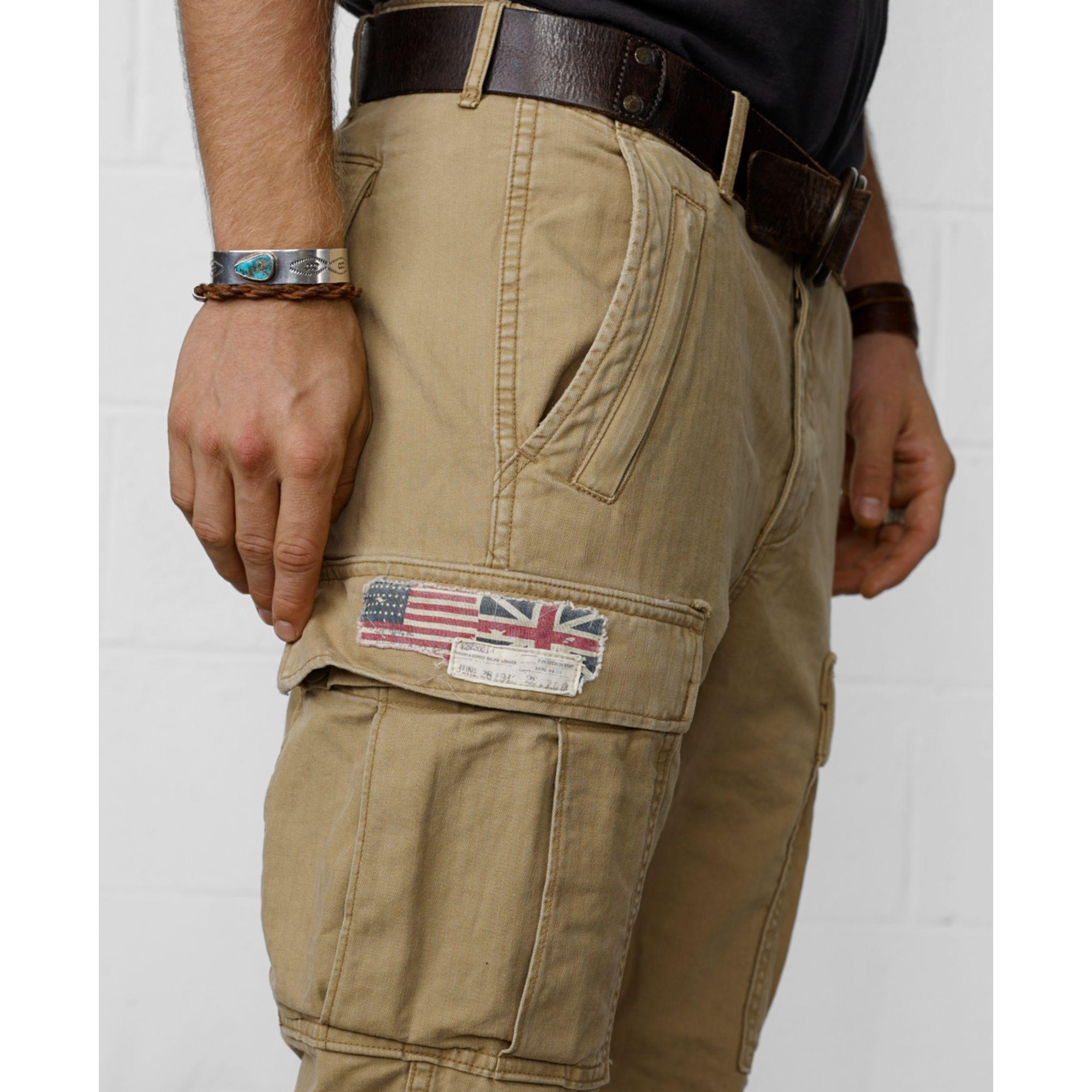 223f5577f8 Denim & Supply Ralph Lauren Zippocket Cargo Pants in Natural for Men ...