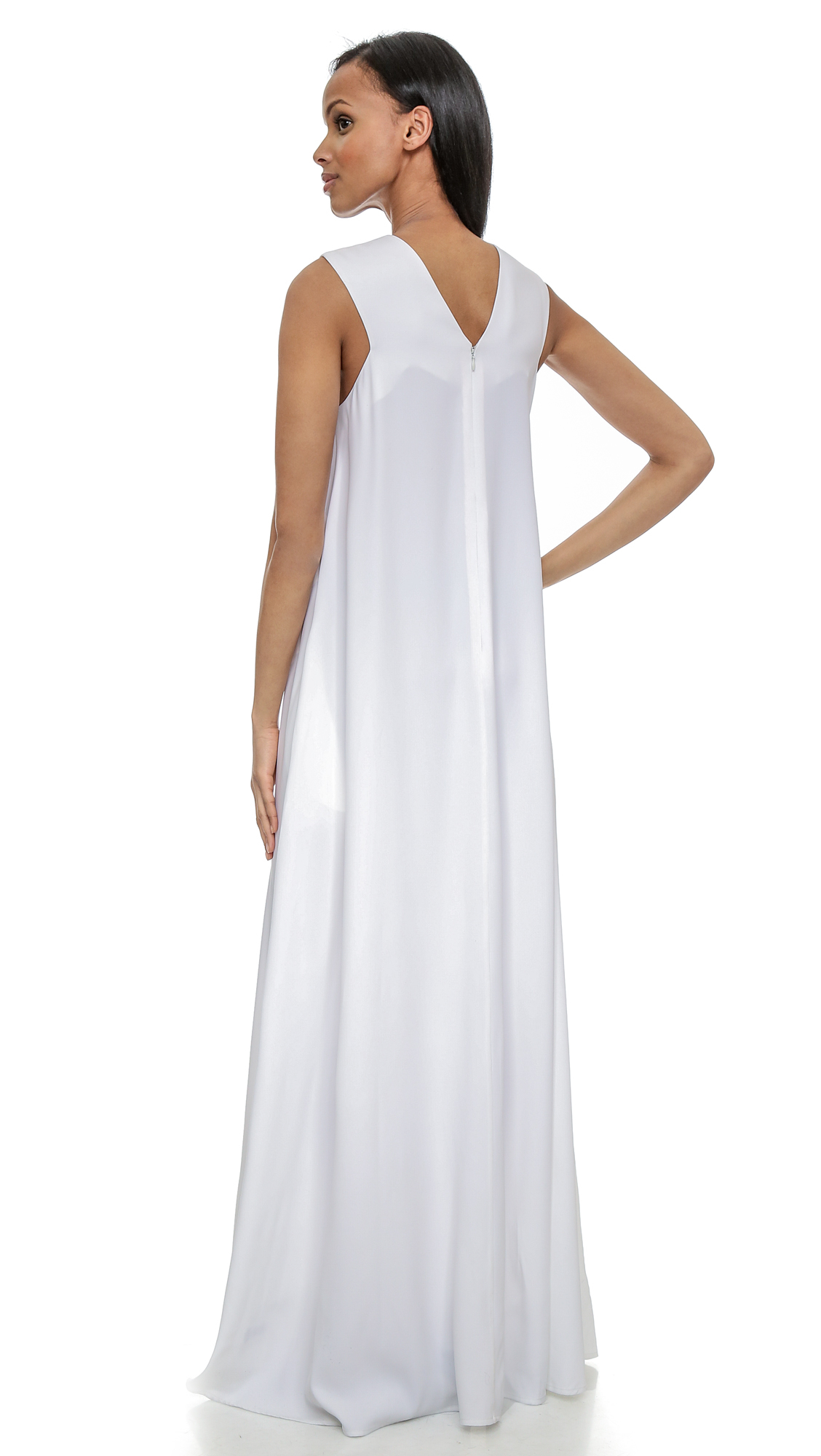 Opening Ceremony Fall 2015: Opening Ceremony Moodie V Neck Maxi Dress