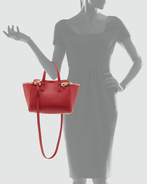 3c71f796e5 Lyst - Ferragamo Verve Light Zip-Side Tote Bag in Red