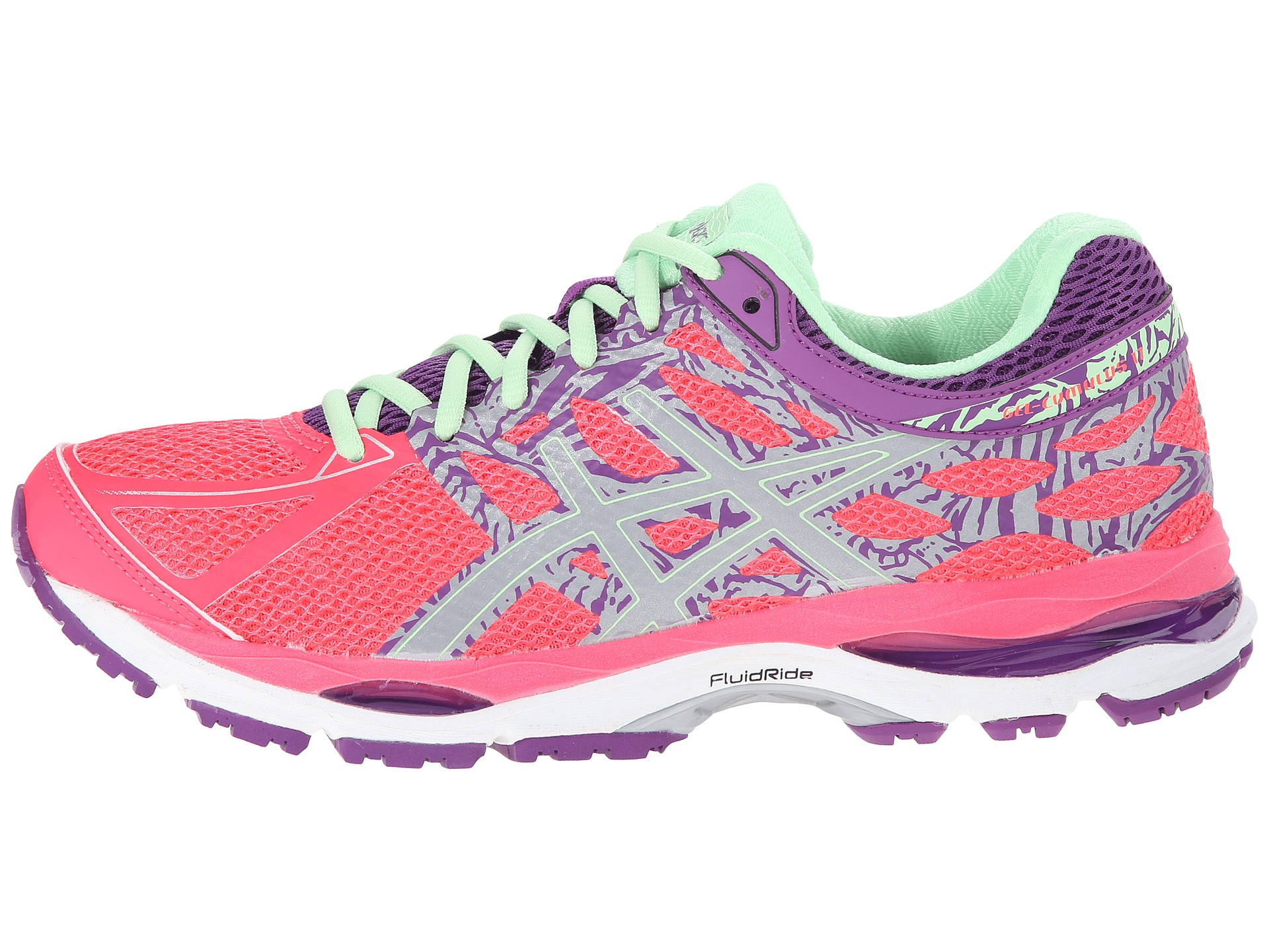 asics gel cumulus 17 lite show in pink lyst. Black Bedroom Furniture Sets. Home Design Ideas