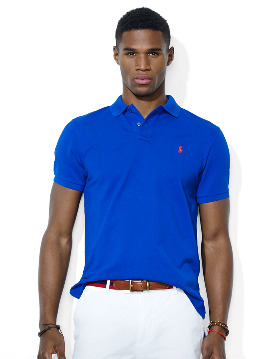 Polo ralph lauren custom fit stretch mesh polo shirt in for Ralph lauren custom fit mesh polo shirt