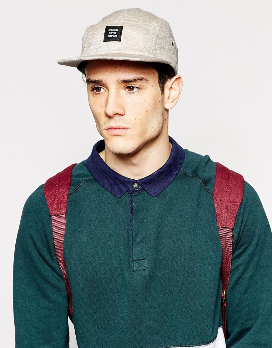 744a19ead9c ... low cost lyst herschel supply co. glendale 5 panel cap exclusive to  asos in a8aa9