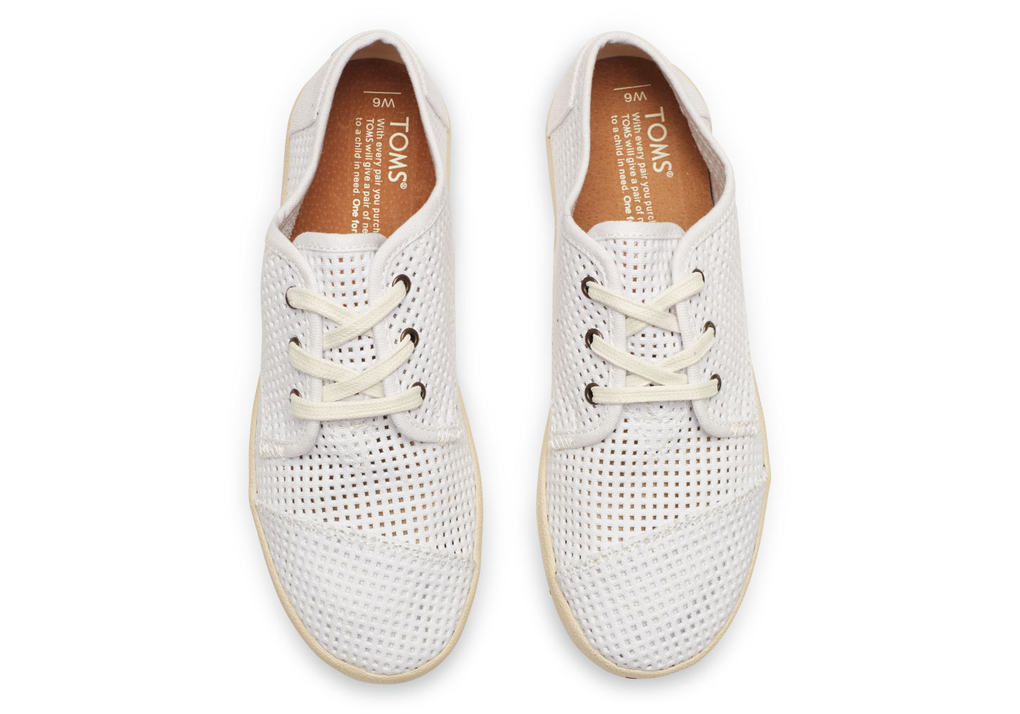 ... d28ce 4ce8c Toms White Canvas Perforated Womens Paseos in White - Lyst  amazing price a7c1cb9c6aaf
