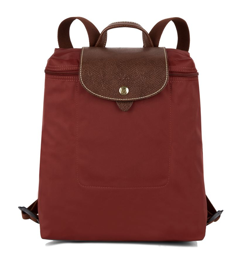 e2151cf03e Longchamp Le Pliage Backpack in Red - Lyst