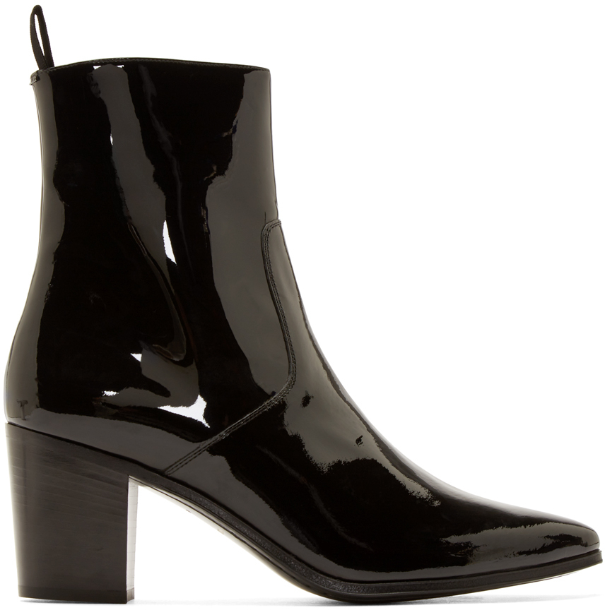 free shipping looking for Saint Laurent Patent Leather Ankle Boots view free shipping ebay DhE7tVBD1