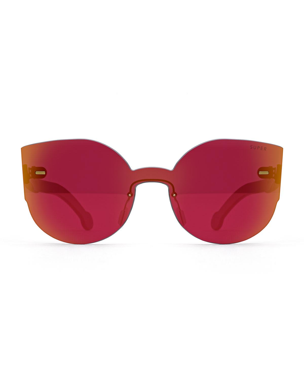 oversize cat eye sunglasses - Metallic Retro Superfuture 8V2VQUNa