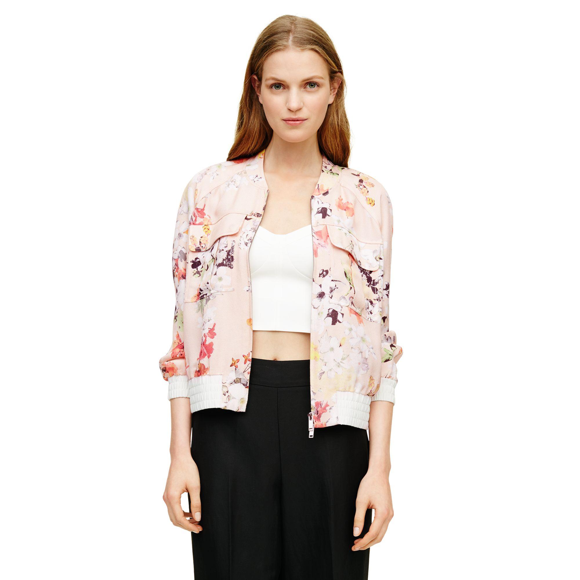 Pink floral bomber jacket – Modern fashion jacket photo blog