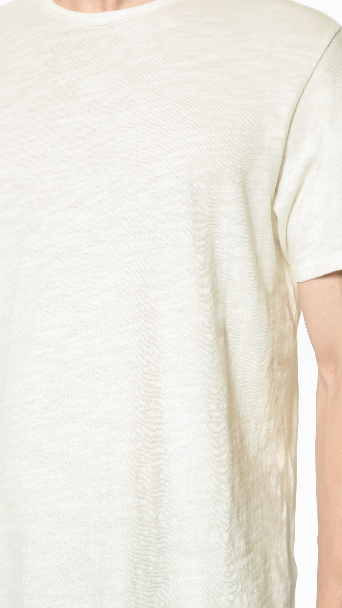 Rag bone basic t shirt in white for men lyst for Rag and bone t shirts