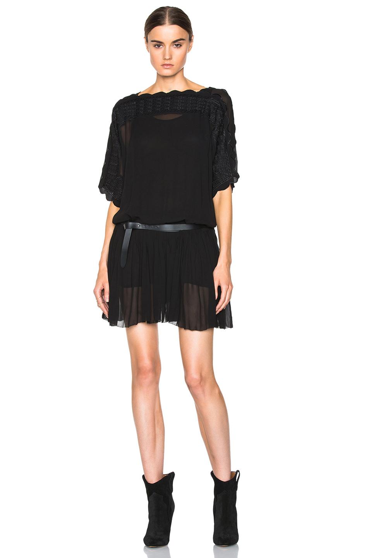 Toile isabel marant aude embroidered dancers dress in for Isabel marant shirt dress
