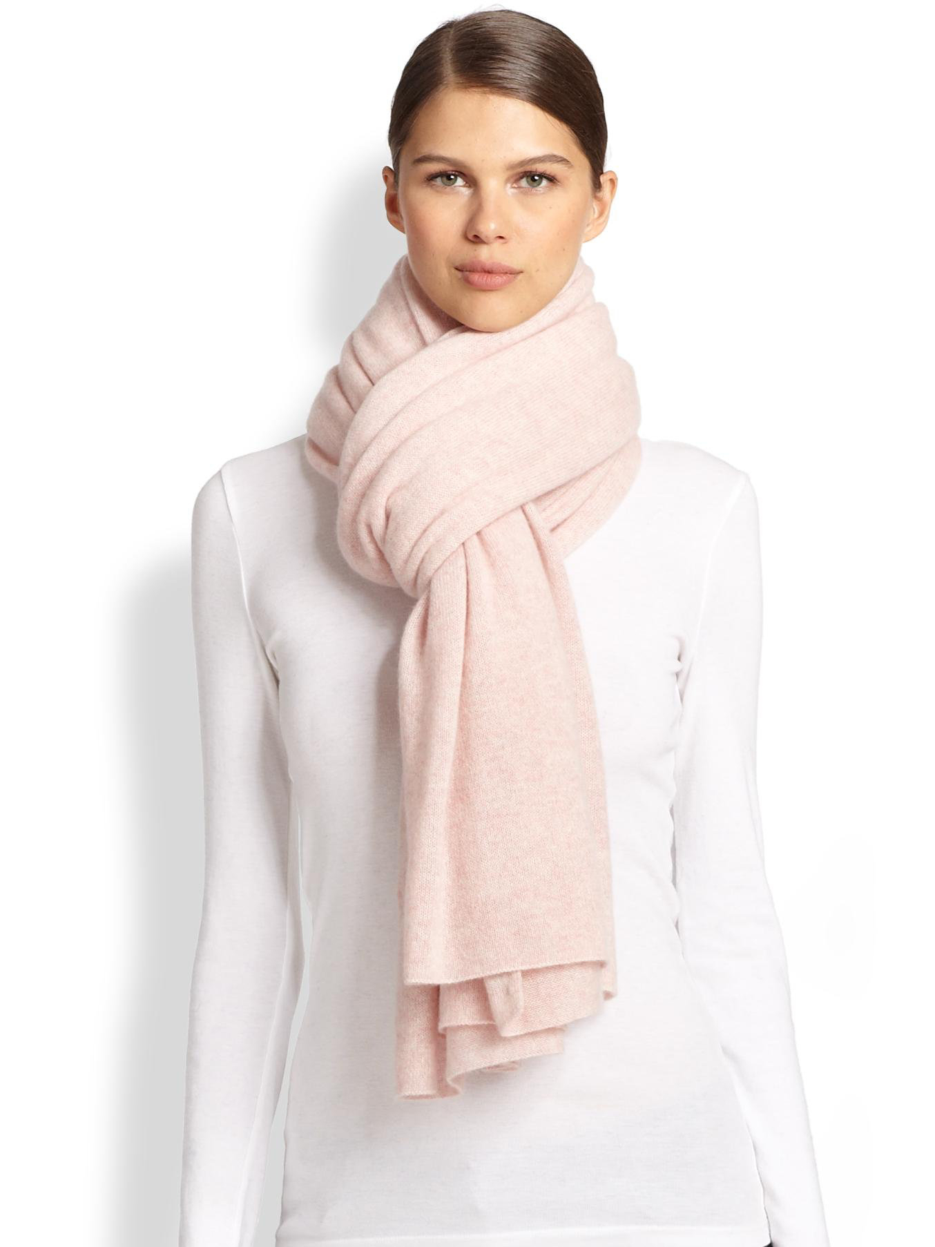 White + Warren | Pink Cashmere Travel Wrap | Lyst