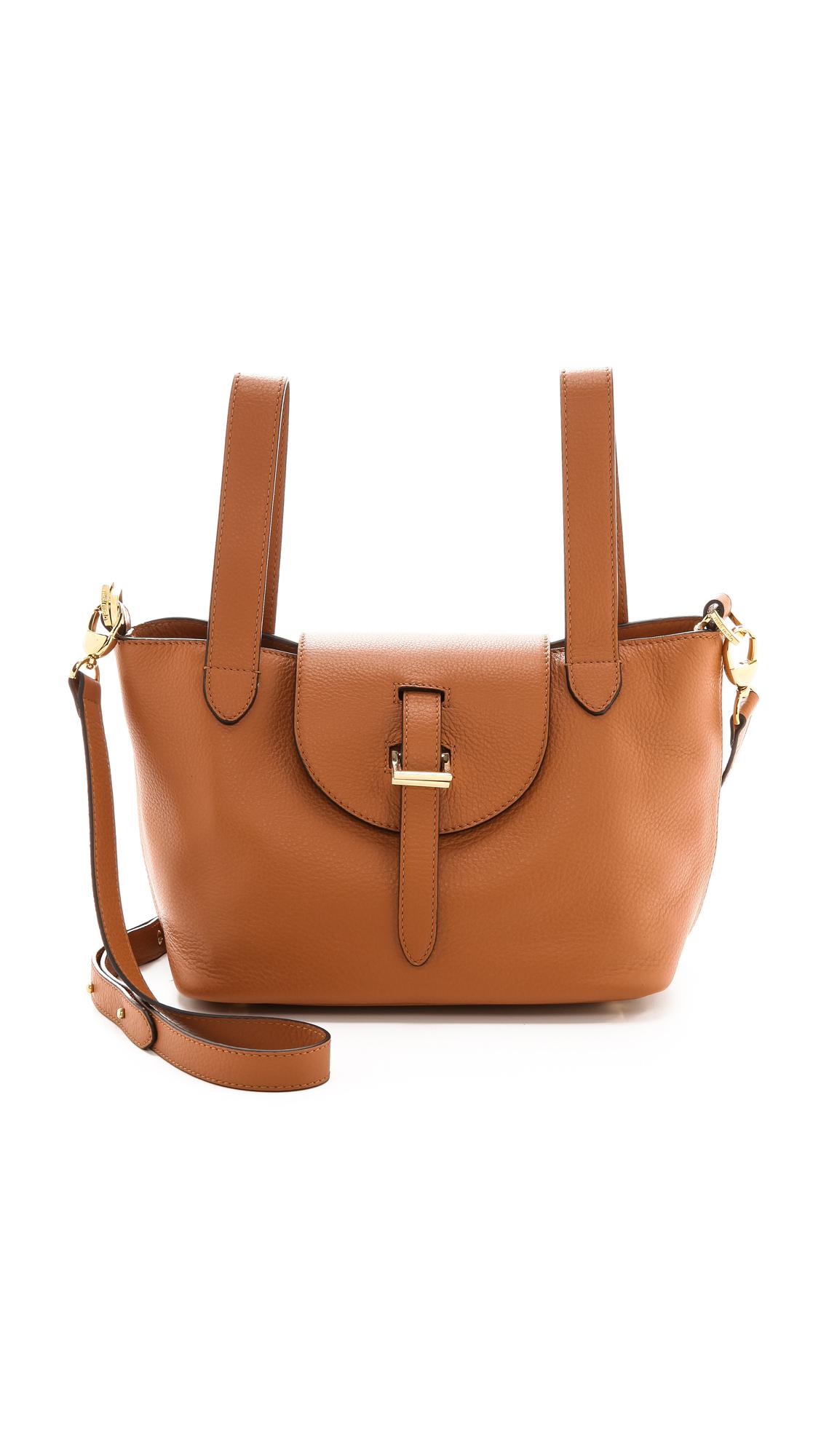 Lyst Meli Melo Mini Thela Bag Tan In Brown