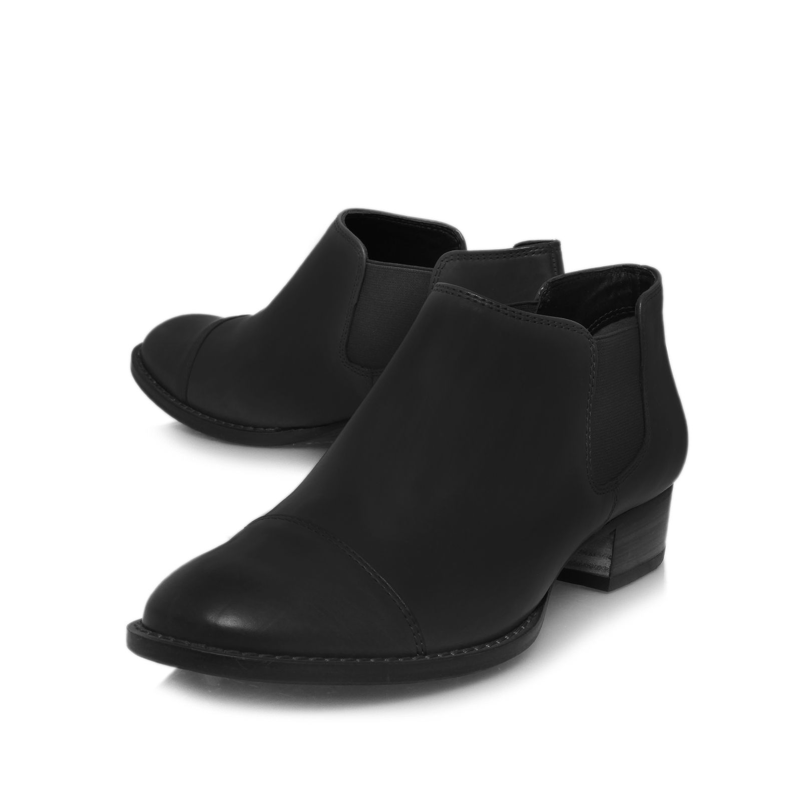 Low Heeled Black Ankle Boots | FP Boots
