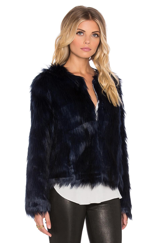46f3d5b4e59 Lyst - Unreal Fur Unreal Dream Faux Fur Jacket in Blue
