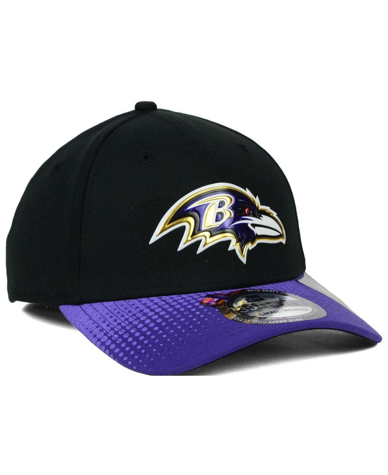 Men's New Era Baltimore Ravens NFL Draft 39THIRTY Reverse Flex Hat