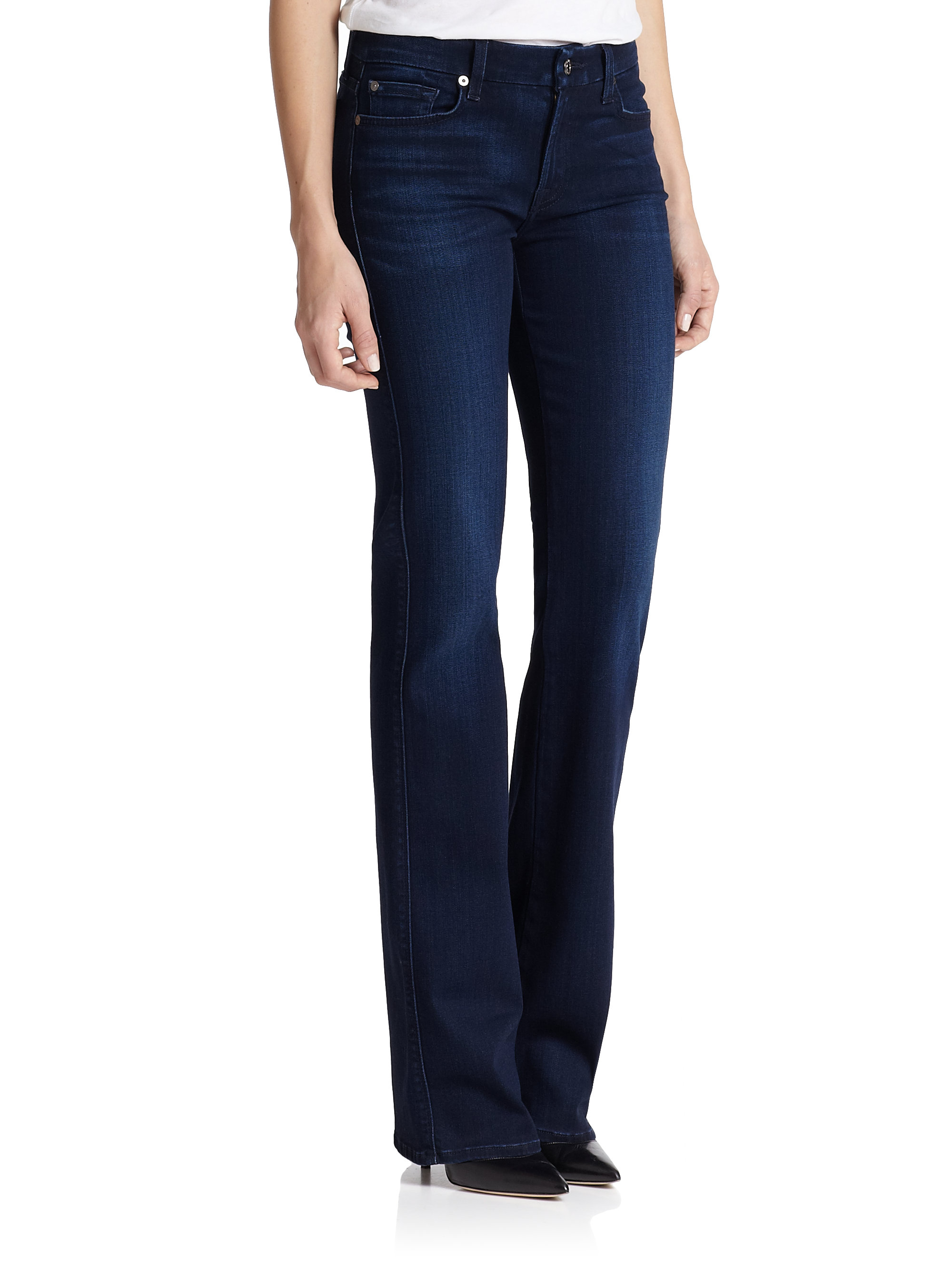 7 for all mankind kimmie bootcut jeans in blue lyst. Black Bedroom Furniture Sets. Home Design Ideas