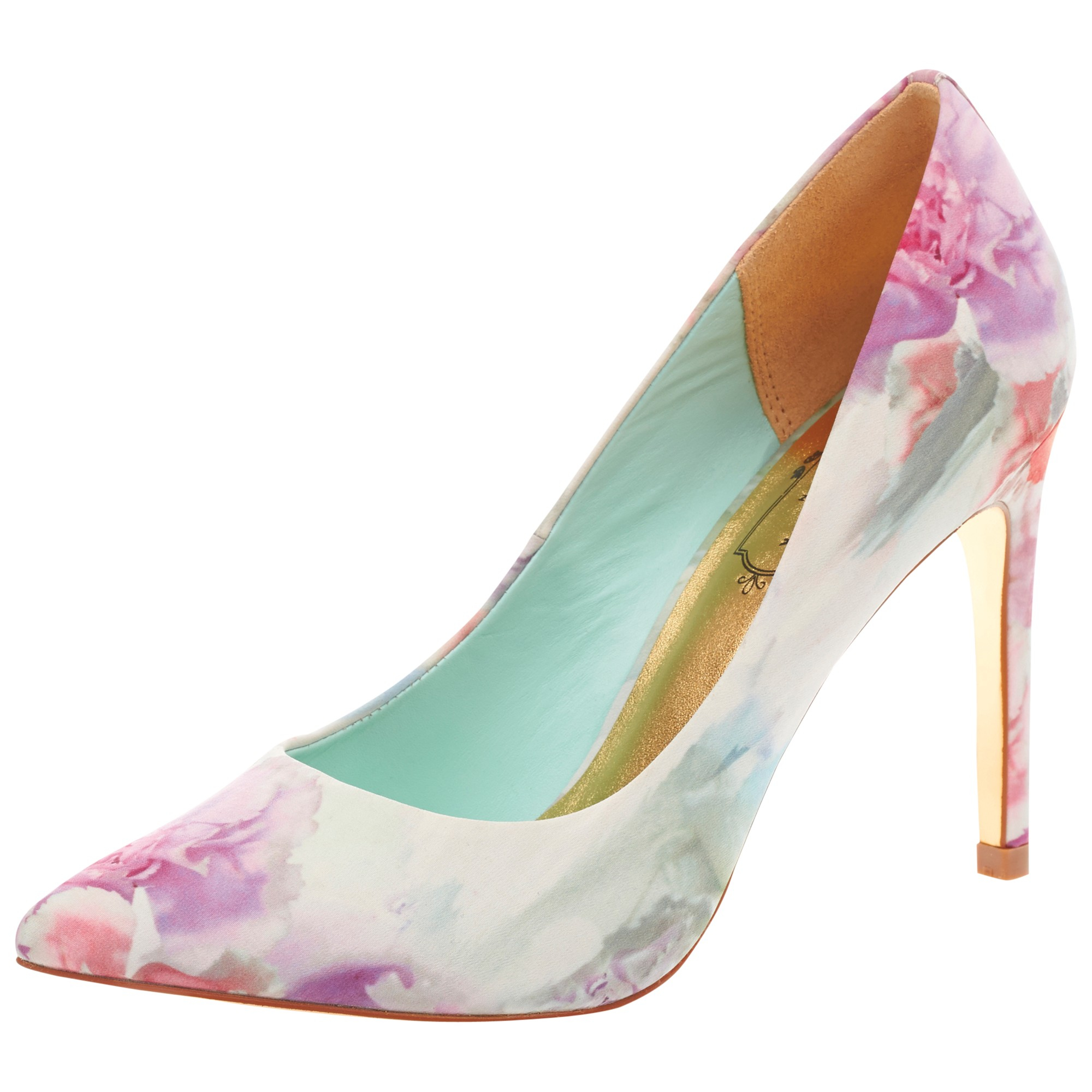 ted baker luceey floral print court shoes in pink lyst
