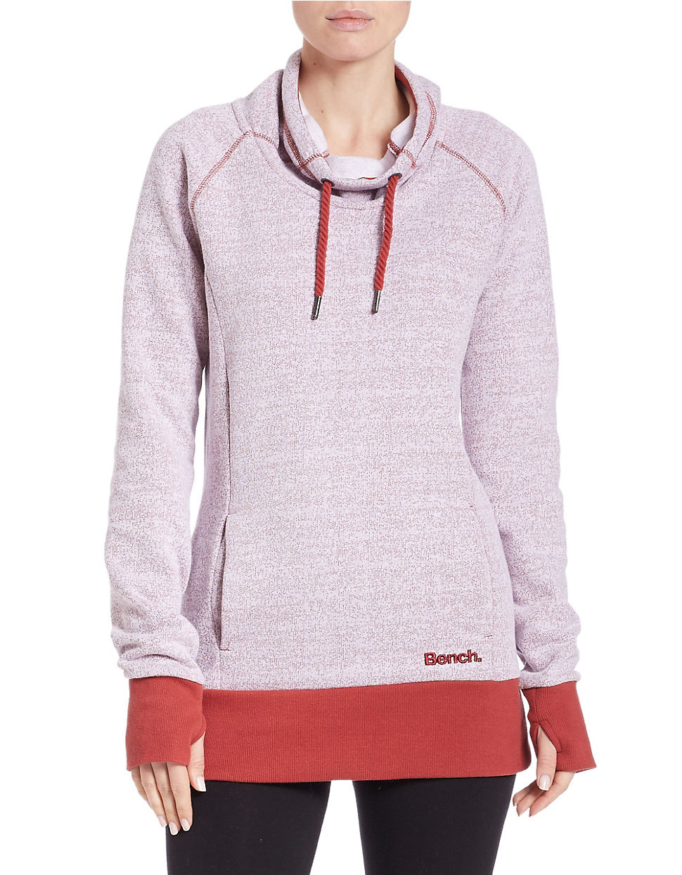 Bench Funnelneck Sweatshirt In Purple Lyst