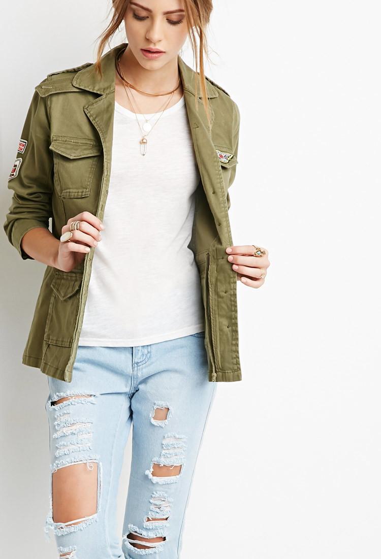 Olive Green Jacket Women S