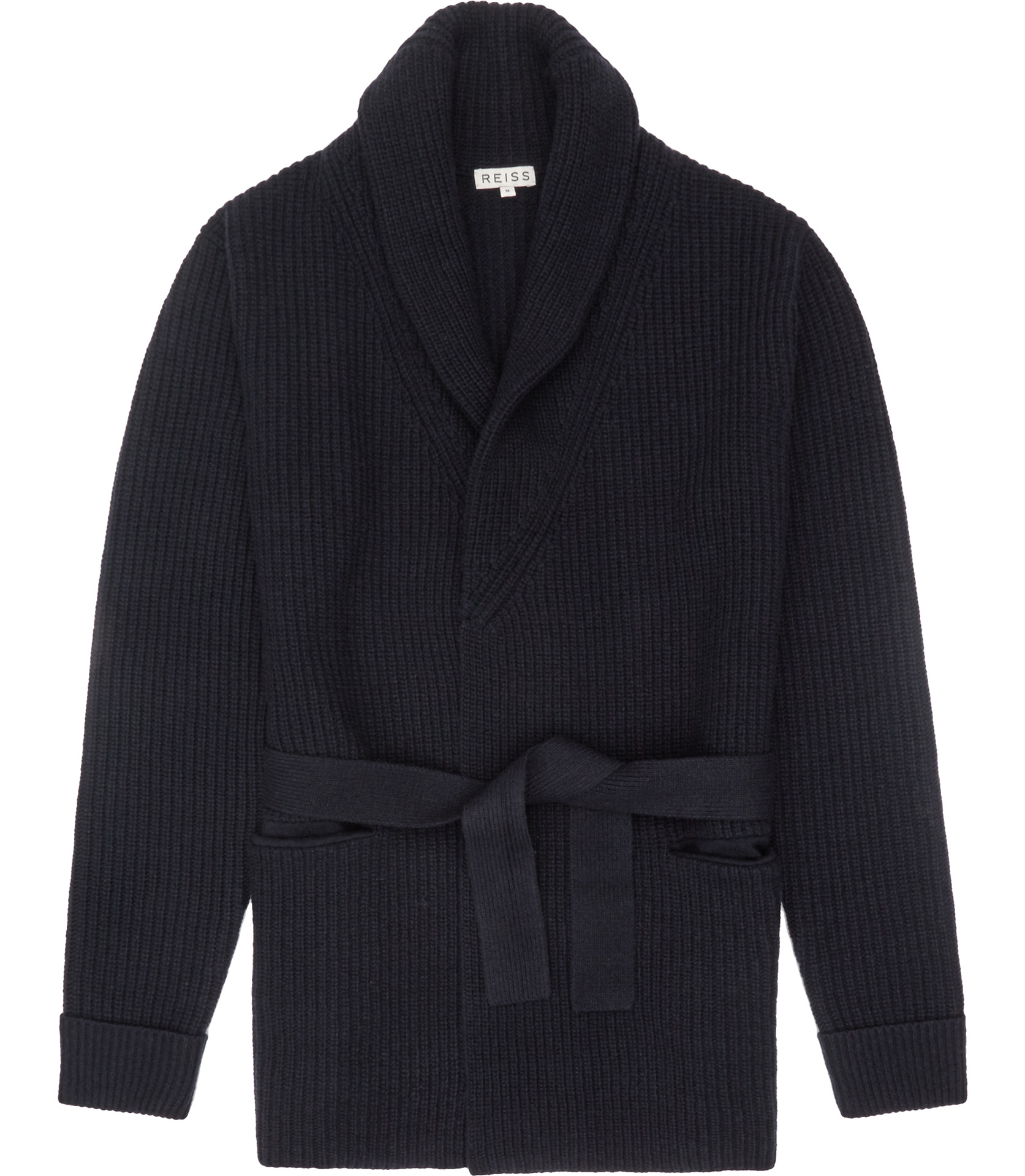 Reiss Macey Belted Cardigan in Blue for Men | Lyst